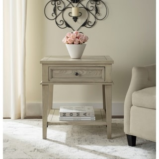 Safavieh Manelin White Washed End Table
