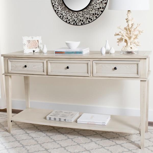Safavieh Manelin White Washed Console Free Shipping