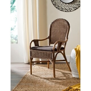 Safavieh Rural Woven Dining Bettina Brown Arm Chair