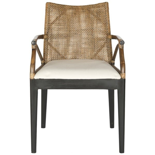 ... Safavieh Wicker Dining Chairs By Safavieh Rural Woven Dining Gianni  Brown White Cushion ...