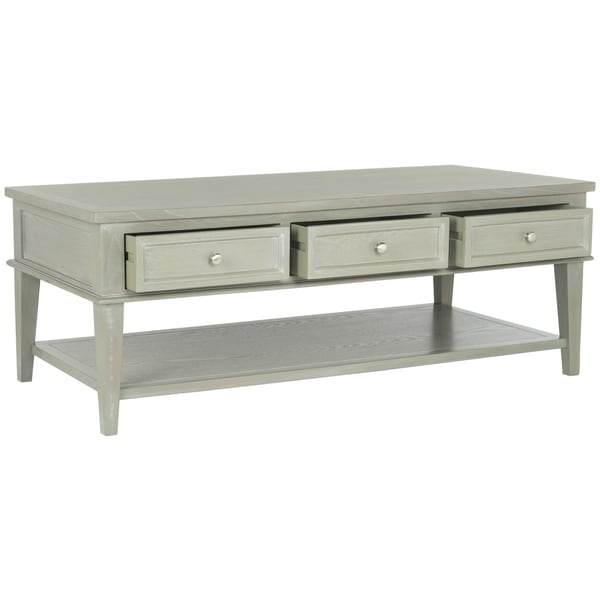 Safavieh Manelin Ash Grey Coffee Table Free Shipping Today 16722574
