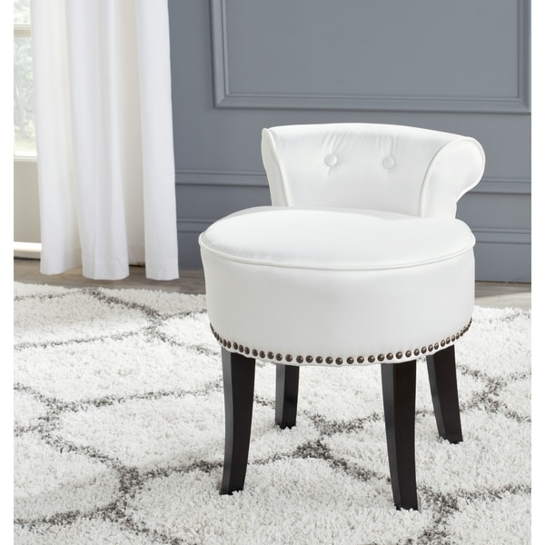 Safavieh Georgia White Vanity Stool Free Shipping Today 1