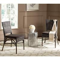 Safavieh Rural Woven Dining Capri Dark Brown Dining Chairs (Set of 2)