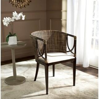 Safavieh Rural Woven Dining Beningo Brown/ Black Arm Chair