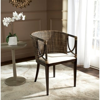"""Link to Safavieh Rural Woven Dining Beningo Brown/ Black Arm Chair - 22.3"""" x 23.3"""" x 31.5"""" Similar Items in Dining Room & Bar Furniture"""