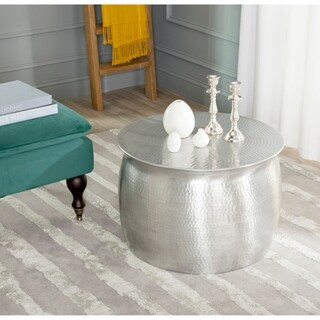 Safavieh Aztec Silver Metal Table Stool