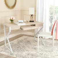 Safavieh Bryant Natural Top/ White Legs Computer Desk