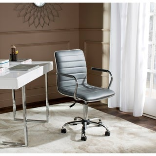 Safavieh Jonika Grey Swivel Office Desk Chair