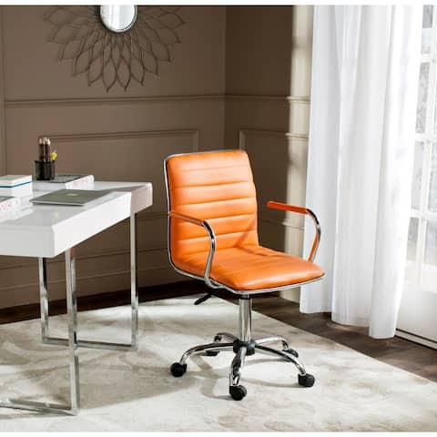 "Safavieh Jonika Orange Desk Chair - 22.4"" x 19.9"" x 35.9"""