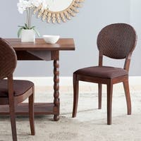 Safavieh Rural Woven Dining Prisco Brown Dining Chairs (Set of 2)