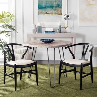Safavieh Country Classic Dining Aramis Black/ Ivory Dining Chairs (Set of 2)