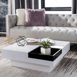 Safavieh Wesley White/ Black Coffee Table