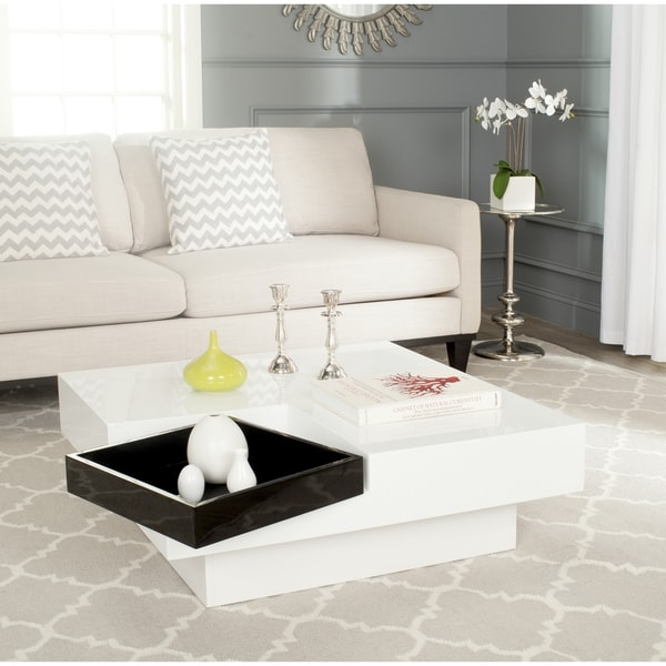 safavieh wesley white/ black coffee table - free shipping today