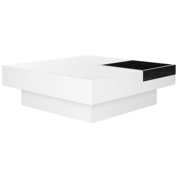 Safavieh Wesley White/ Black Coffee Table   Free Shipping Today    Overstock.com   16722617