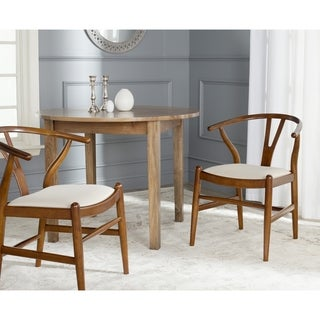 Safavieh Country Classic Dining Aramis Antique Brown/ Taupe Side Chairs (Set of 2)