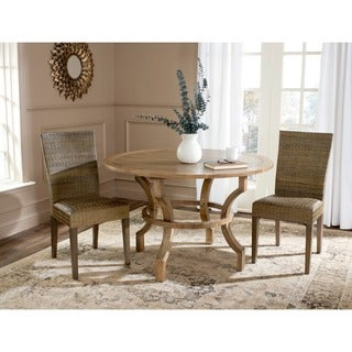Safavieh Rural Woven Dining Fausta Sepia Grey Dining Chairs (Set of 2)