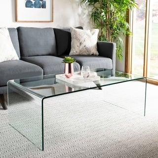 Safavieh Willow Clear Glass Coffee Table