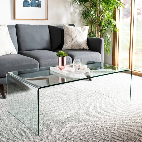 Shop Safavieh Willow Clear Coffee Table On Sale Free