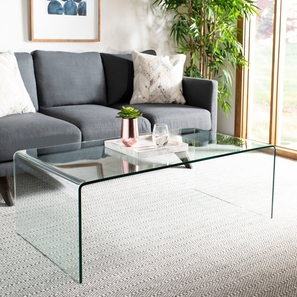 Safavieh Willow Clear Coffee Table 47 2 X 25 6