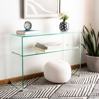 "Safavieh Hollis Clear Console Table - 43.3"" x 13.8"" x 29.5"""