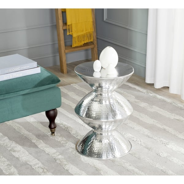 Safavieh Guildsman Silver Metal Table Stool