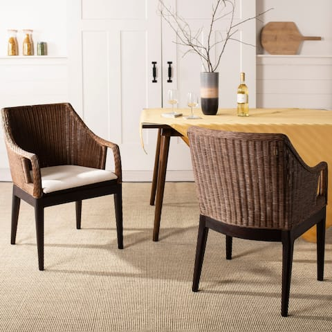 Safavieh Rural Woven Dining Enrico Multi/ Brown Arm Chair