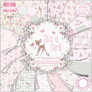 "First Edition Premium Paper Pad 6""X6"" 64/Pkg-It's A Girl"