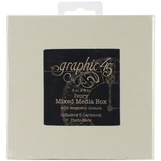 """Staples Mixed Media Box 5""""X5""""-Ivory"""