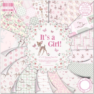 "First Edition Premium Paper Pad 12""X12"" 48/Pkg-It's A Girl"