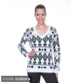 White Mark Women's Holiday Sweater