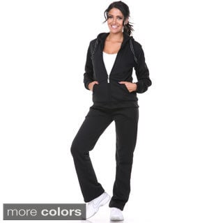 White Mark Women's Bundle-up 2-piece Set