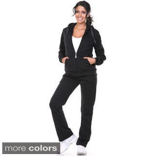 White Mark Women's Bundle-up 2-piece Set (Option: Red)|https://ak1.ostkcdn.com/images/products/9542344/P16722707.jpg?impolicy=medium