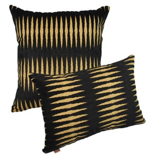 Sherry Kline Golden Gate Black Luxury Combo Throw Pillows (Set of 2)