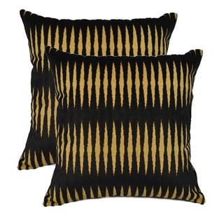 Sherry Kline Golden Gate Black Luxury 20-inch Throw Pillows (Set of 2)