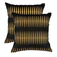 Sherry Kline Golden Gate Black Luxury 20-inch Throw Pillows (Set of 2) - Black/Tan
