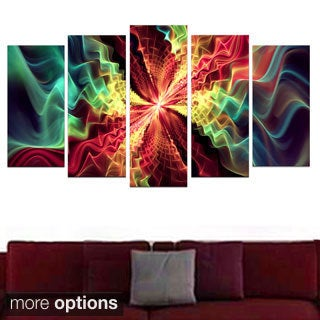 Abstract 'Hypnotize' 5-piece Canvas Print
