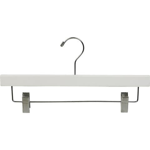 White Wooden Bottom Hanger with Clips