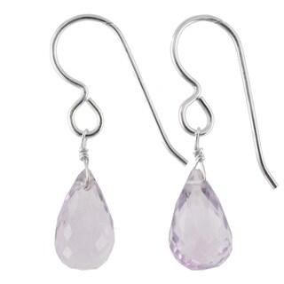 Link to Pink Amethyst Gemstone  Silver Handmade Earrings Similar Items in Earrings