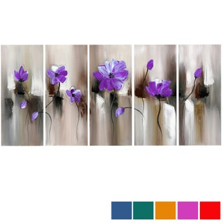 Modern Flower' Large 5-piece Gallery-wrapped Canvas (5 options available)