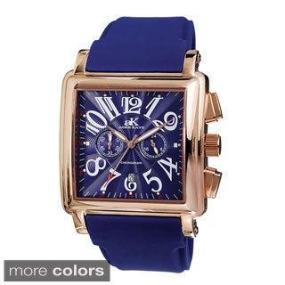 Men's Adee Kaye AK7231-M Square Dial Watch (Option: Black)
