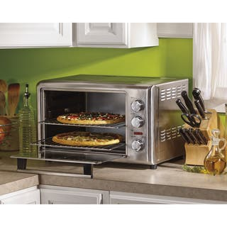 Hamilton Beach Stainless Countertop Oven with Convection and Rotisserie|https://ak1.ostkcdn.com/images/products/9542969/P16723673.jpg?impolicy=medium