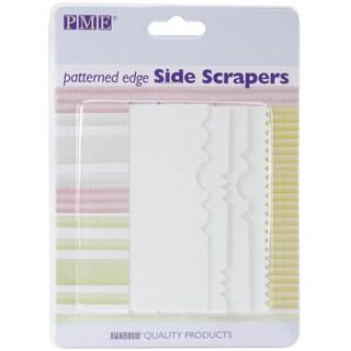 Patterned Edge Plastic Side Scraper Set 4pc