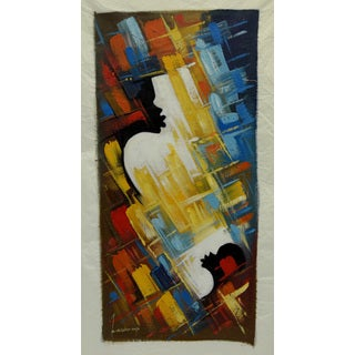 Bernard Mensah 'Child and Mother - Amazing Love' Unframed Original Painting (Ghana)