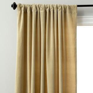 Cotton Velvet Rod Pocket Curtain Panel