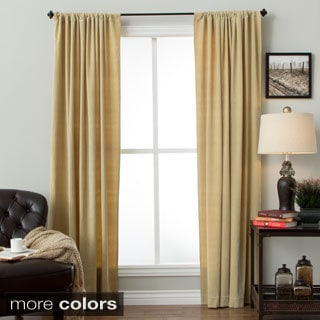 Cotton Velvet Rod Pocket Curtain Panel