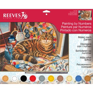 """Paint By Number Kit 12""""X16""""-Resting Cat"""