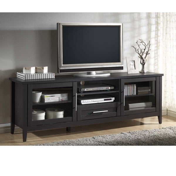 Baxton Studio Espresso Modern Tv Stand One Drawer Free