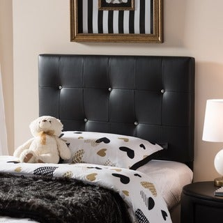 Baxton Studio Kirchem Black Modern Upholstered Headboard