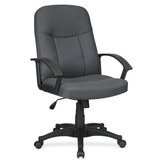 Lorell Executive Fabric Mid-back Chair - Grey