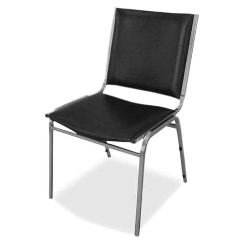 Lorell Padded Armless Stacking Chair